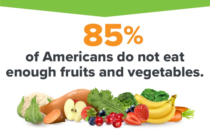 Americans need more fruits and vegetables